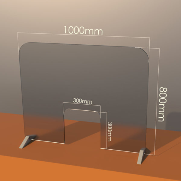 Large Sneeze/Counter Guard – SIZE: 1000 x 800 with 300 slot